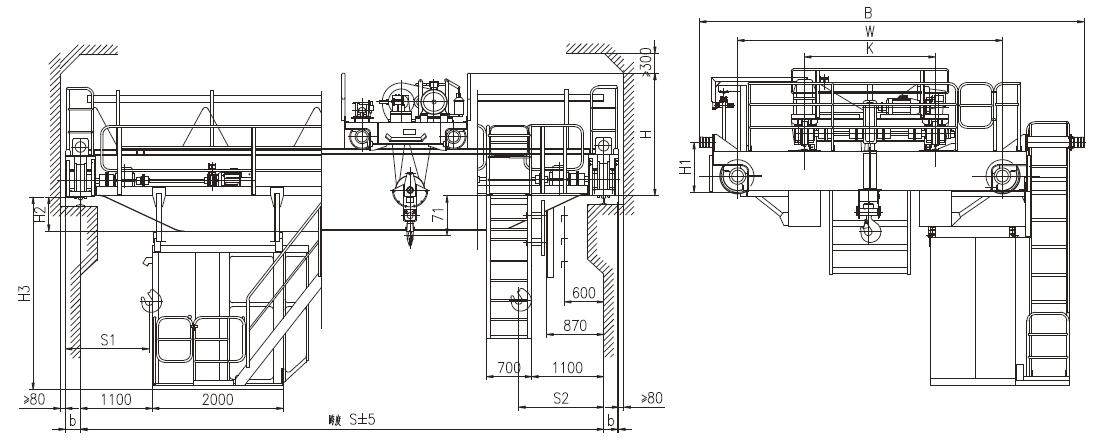 10 Ton Double Girder EOT Crane Design Specification