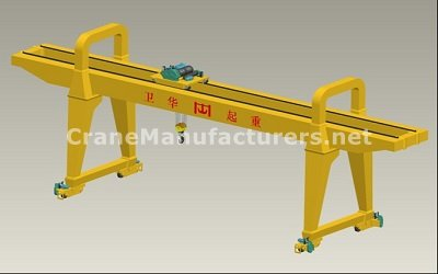 Double Girder Gantry Crane Manufacturers - 50 Ton Specifications Design