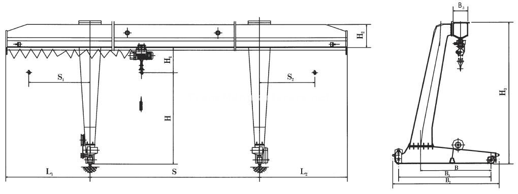 5 Ton Gantry Crane Specifications - Single Girder Gantry Crane L Type